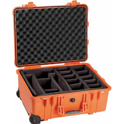 Pelican 1564 Waterproof 1560 Case with Dividers (Orange)