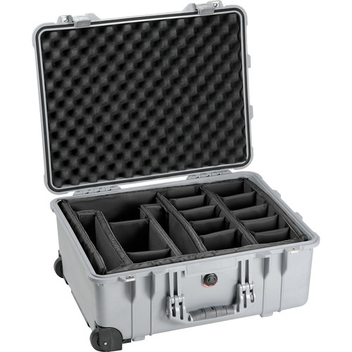 Pelican 1564 Waterproof 1560 Case with Dividers (Silver)