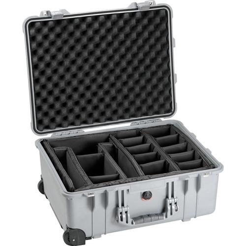 Pelican 1564 Waterproof 1560 Case with Dividers (Silver)