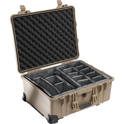 Pelican 1564 Waterproof 1560 Case with Dividers (Desert Tan)