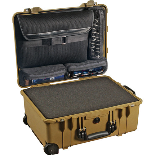 Pelican 1560LFC Case with Foam in Base (Desert Tan)