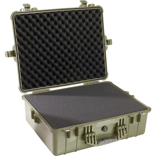 Pelican 1600 Case with Foam Set (Olive Drab Green)