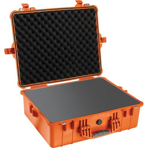 Pelican 1600 Case with Foam Set (Orange)