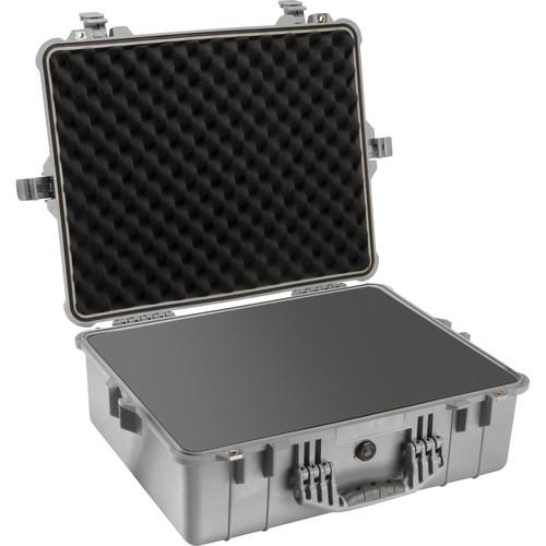Pelican 1600 Case with Foam Set (Silver)