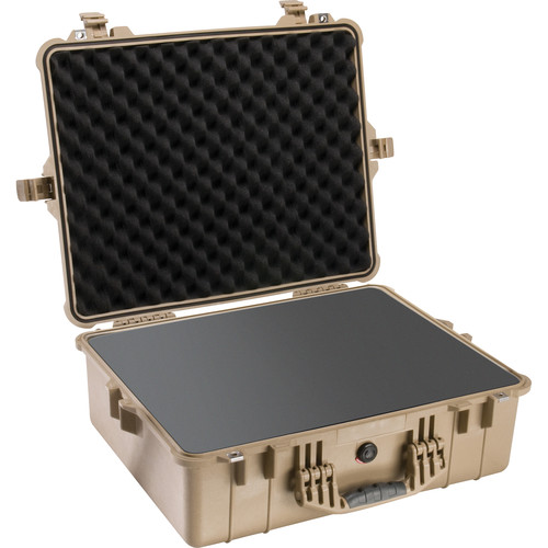 Pelican 1600 Case with Foam Set (Desert Tan)