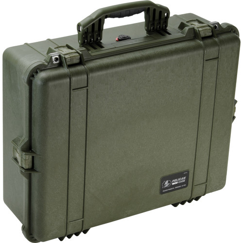 Pelican 1600NF Large Case Without Foam (Olive Drab Green)