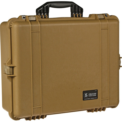Pelican 1600NF Large Case Without Foam (Desert Tan)