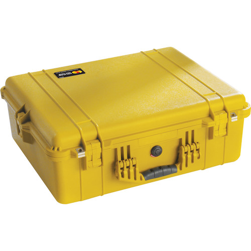 Pelican 1600 Case without Foam (Yellow)