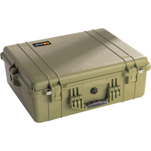 Pelican 1604 Waterproof 1600 Case with Dividers (Olive Drab Green)