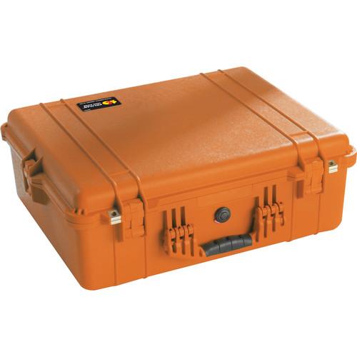 Pelican 1604 Waterproof 1600 Case with Dividers (Orange)