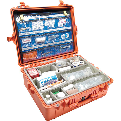 Pelican 1600EMS Watertight ATA Hard Case with EMS Organizer and Dividers (Orange)