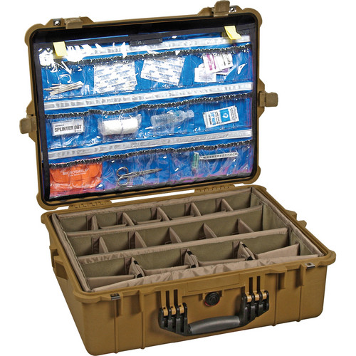 Pelican 1600EMS EMS Case with Organizer and Dividers (Desert Tan)