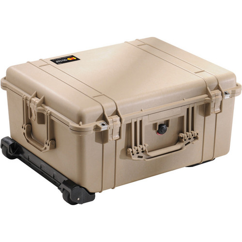 Pelican 1610 Case without Foam (Desert Tan)