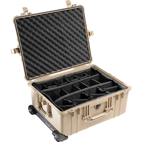 Pelican 1614 Waterproof 1610 Case with Dividers (Desert Tan)