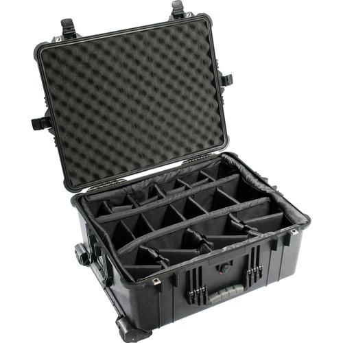 Pelican 1614 Waterproof 1610 Case with Dividers (Black)