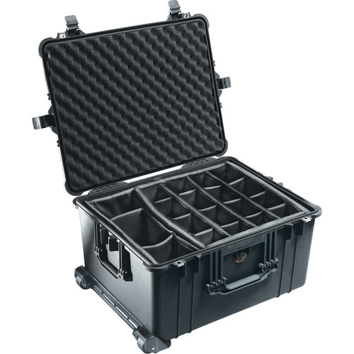 Pelican 1624 Waterproof 1620 Case with Dividers (Black)