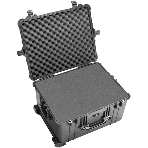 Pelican 1620 Case with Foam with Porta Brace LongLife Divider Kit (Black)