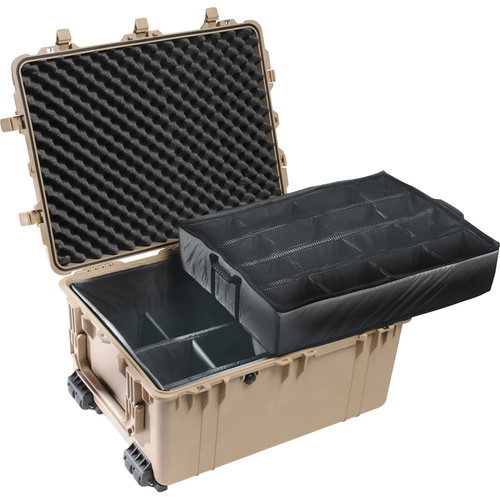 Pelican 1634 Transport 1630 Case with Dividers (Desert Tan)