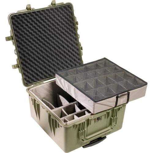 Pelican 1644 Transport 1640 Case with Dividers (Olive Drab Green)