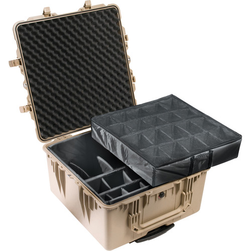 Pelican 1644 Transport 1640 Case with Dividers (Desert Tan)