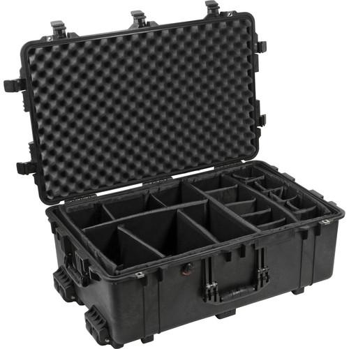 Pelican 1654 Waterproof 1650 Case with Black Dividers (Black)