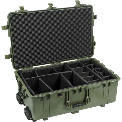 Pelican 1654 Waterproof 1650 Case with Dividers (Olive Drab Green)