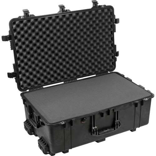 Pelican 1650 Case with Foam and Porta Brace LongLife Divider Kit (Black)