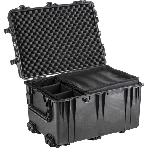 Pelican 1664 Waterproof 1660 Case with Dividers (Black)