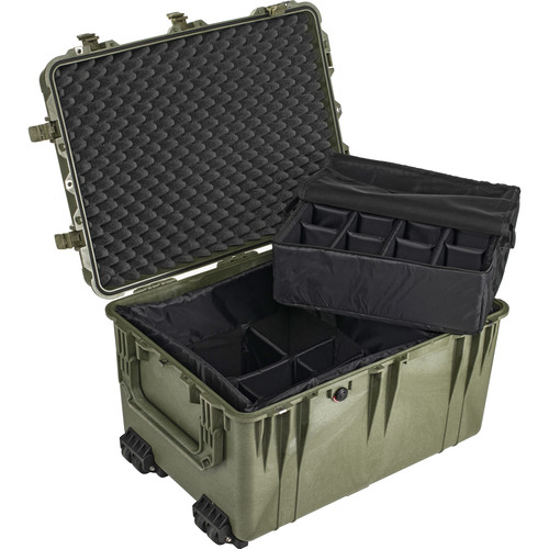 Pelican 1664 Waterproof 1660 Case with Dividers (Olive Drab Green)