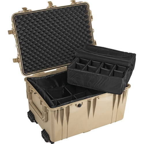 Pelican 1664 Waterproof 1660 Case with Dividers (Desert Tan)