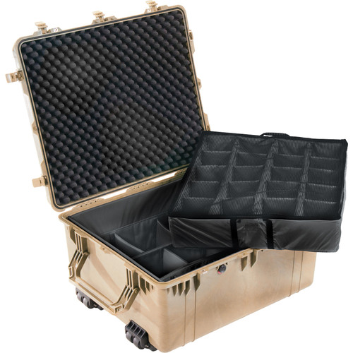 Pelican 1694 Transport 1690 Case with Dividers (Desert Tan)