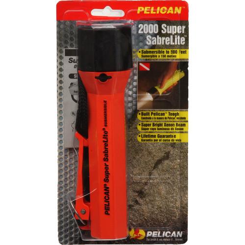 Pelican Sabrelite 2000 Flashlight 3 'C' Xenon Lamp (Orange)