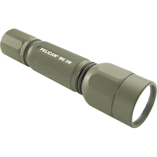 Pelican M6 2 'CR123' 3W LED Flashlight (Olive-Green)