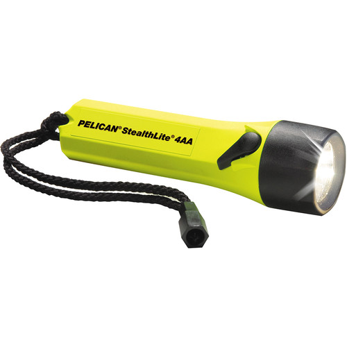 Pelican Stealthlite 2400 Flashlight 4 'AA' Xenon Lamp (Yellow)