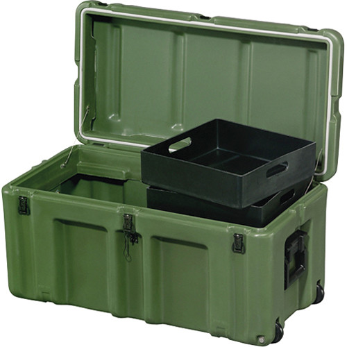 Pelican Hardigg 472-FTLK-LG Footlocker for Movable Storage (Green)