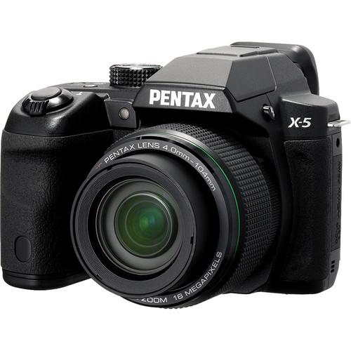 Pentax X-5 Digital Camera (Black)