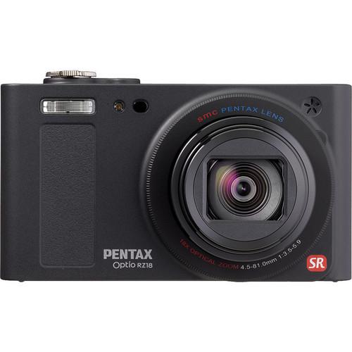 Pentax Optio RZ 18 Digital Camera (Black)