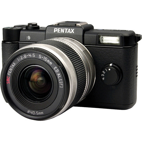 Pentax Q Digital Camera with 5-15mm Lens (Black)