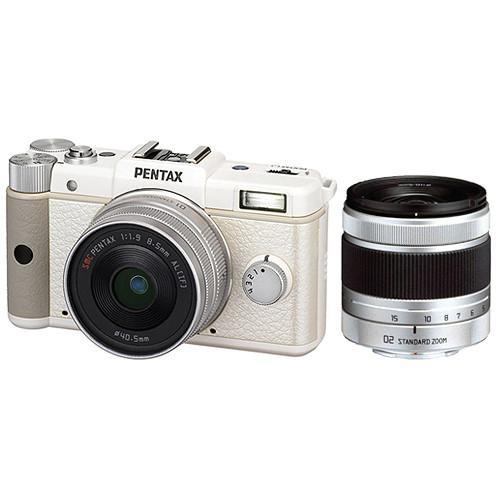 Pentax Q Digital Camera Dual Lens Kit (White)
