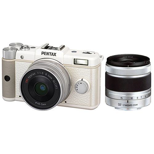Pentax Q Digital Camera Dual Lens Kit (White)
