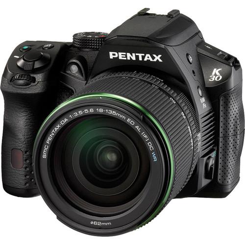 Pentax K30 Digital Camera with 18-135mm Lens Kit (Black)