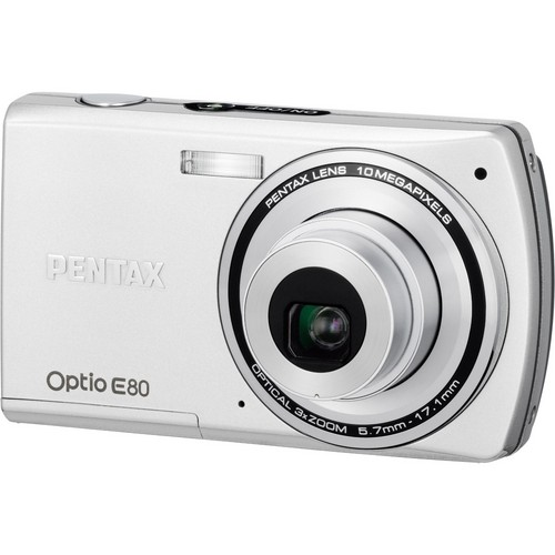 Pentax Optio E80 Digital Camera (Silver)