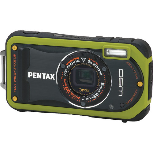 Pentax Optio W90 Compact Digital Camera (Green)