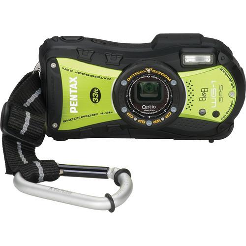 Pentax Optio WG-1 GPS Digital Camera (Yellow/Green)