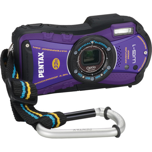 Pentax Optio WG-1 Digital Camera (Purple)
