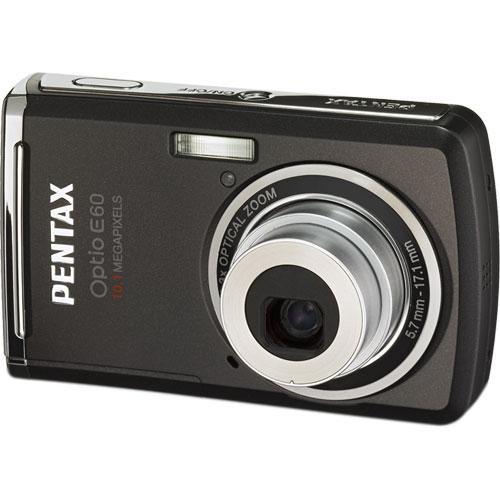 Pentax Optio E60 Digital Camera (Black)