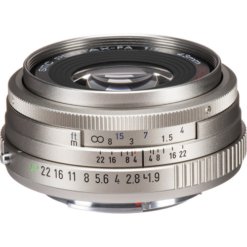 Pentax smc FA 43mm f/1.9 Limited Series Autofocus Lens (Silver)