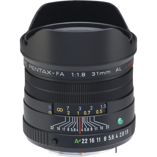 Pentax smcP FA 31mm f/1.8 Limited Lens (Black)