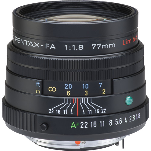 Pentax smc PENTAX-FA 77mm f/1.8 Limited Lens (Black)