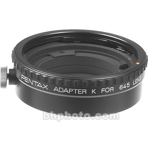 "Pentax 645 Lens to Pentax 35mm K-Mount Body Adapter ""K"""
